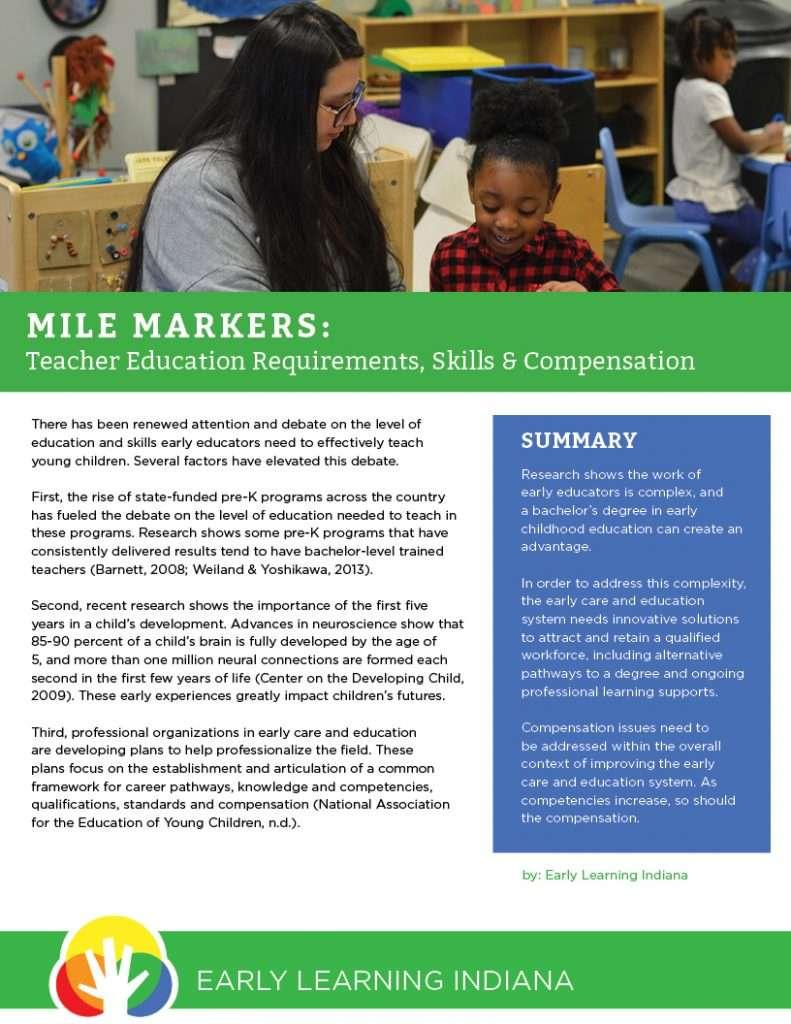 Policy Brief Improving Teacher Quality Compensation Key To Pre K